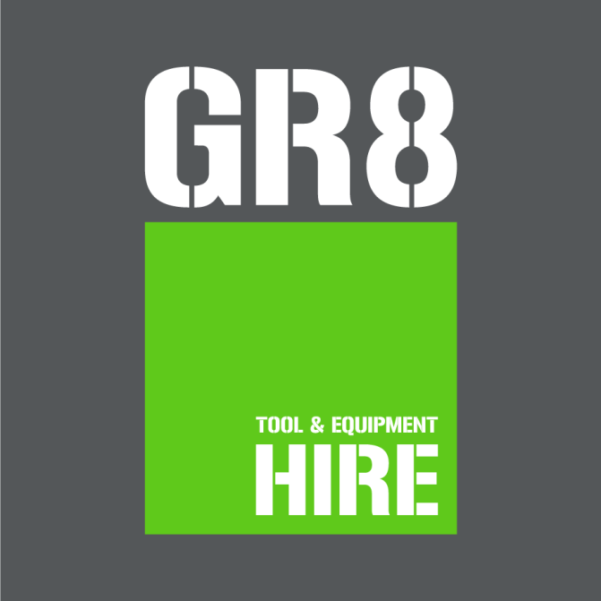 GR8 Tool Hire brand identity, print and marketing