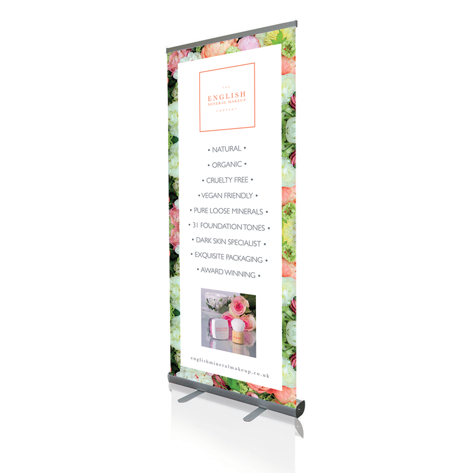 English Mineral Makeup Roller Banners