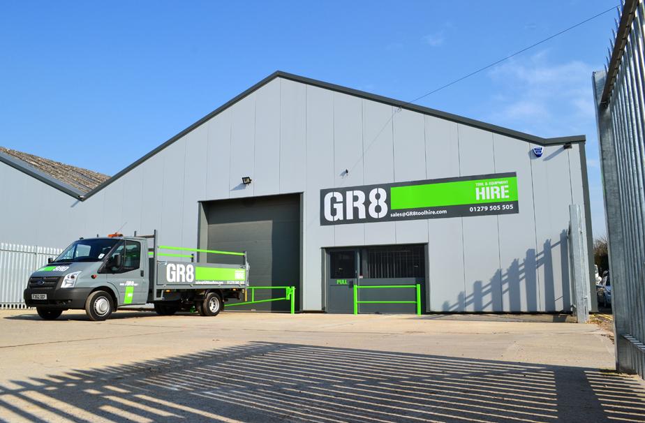 GR8 Tool Hire Exterior Signage
