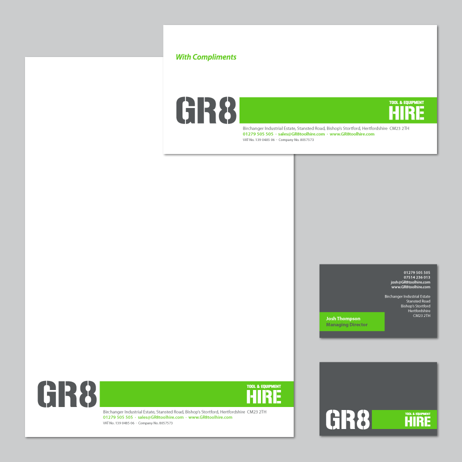 GR8 Tool Hire Corporate Identity