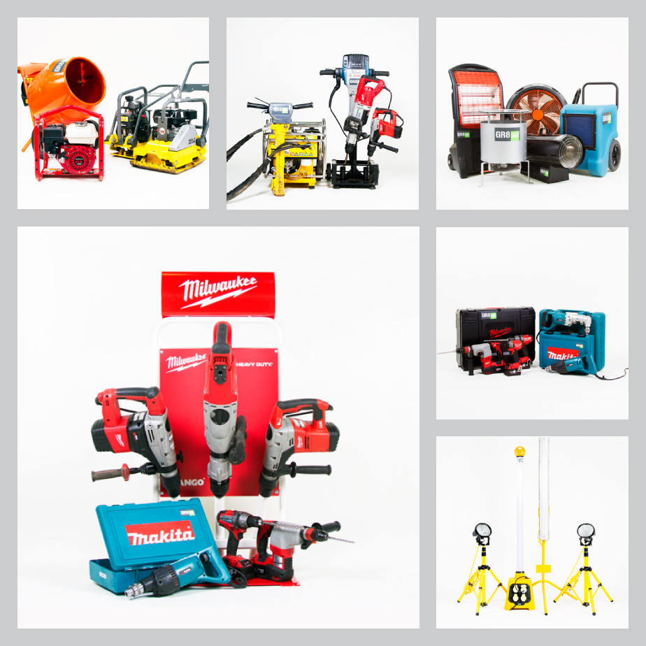 GR8 Tool Hire Product Photoshoot