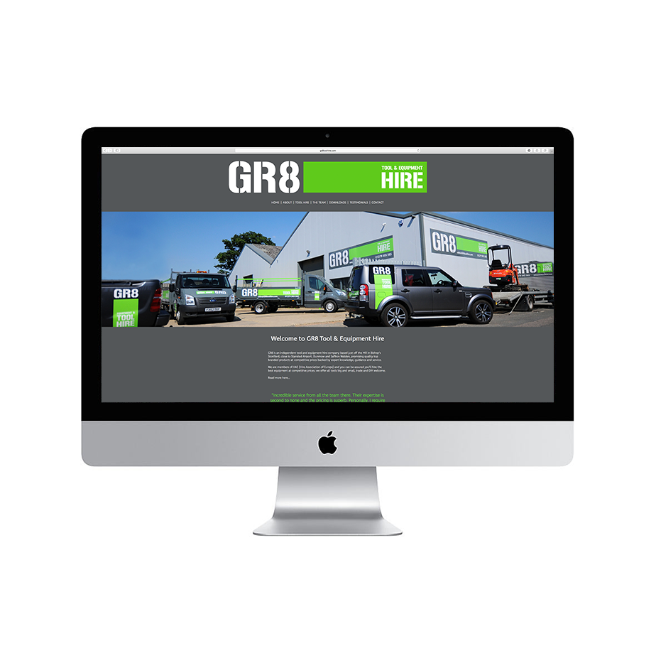 GR8 Tool Hire Website Design & SEO