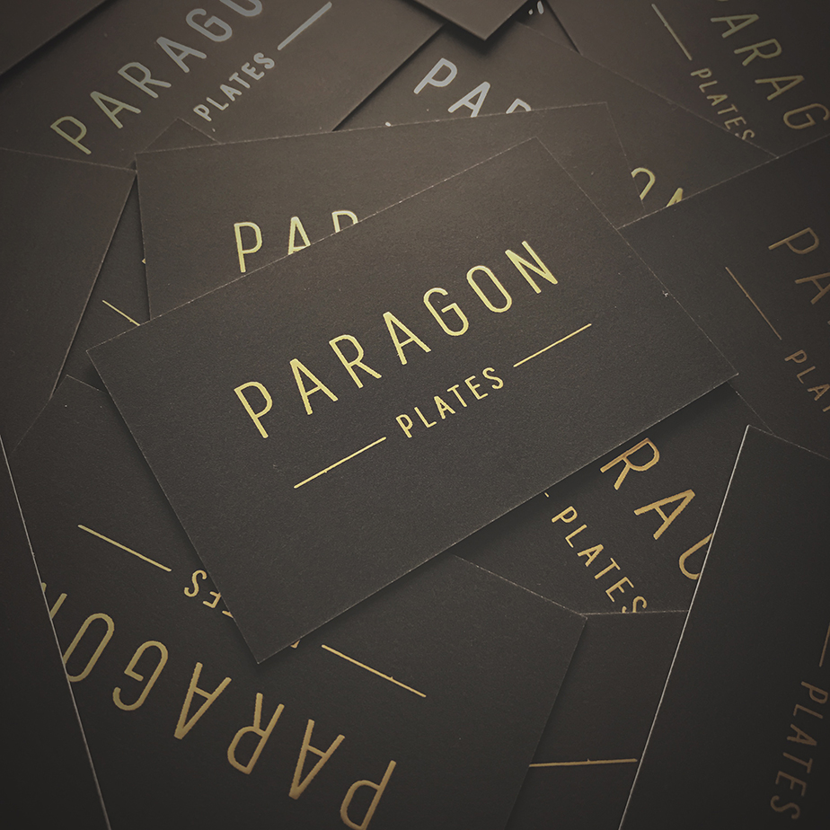 Paragon Plates Business Cards
