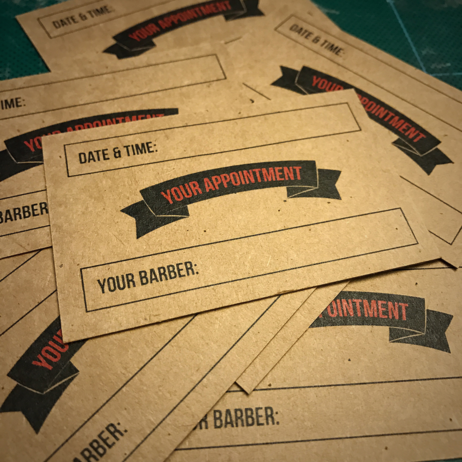 charlie-brown-barbers-appointment-card-design