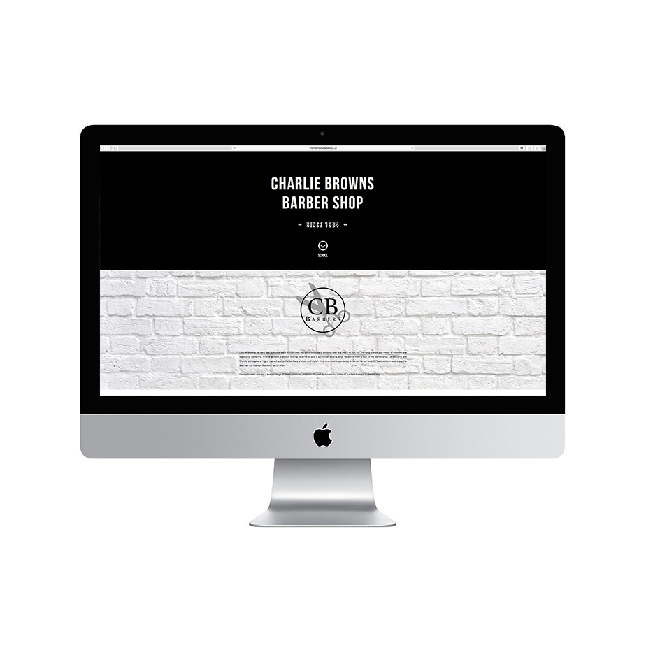 Charlie Browns Barbers Responsive Website Design, SEO & Maintenance