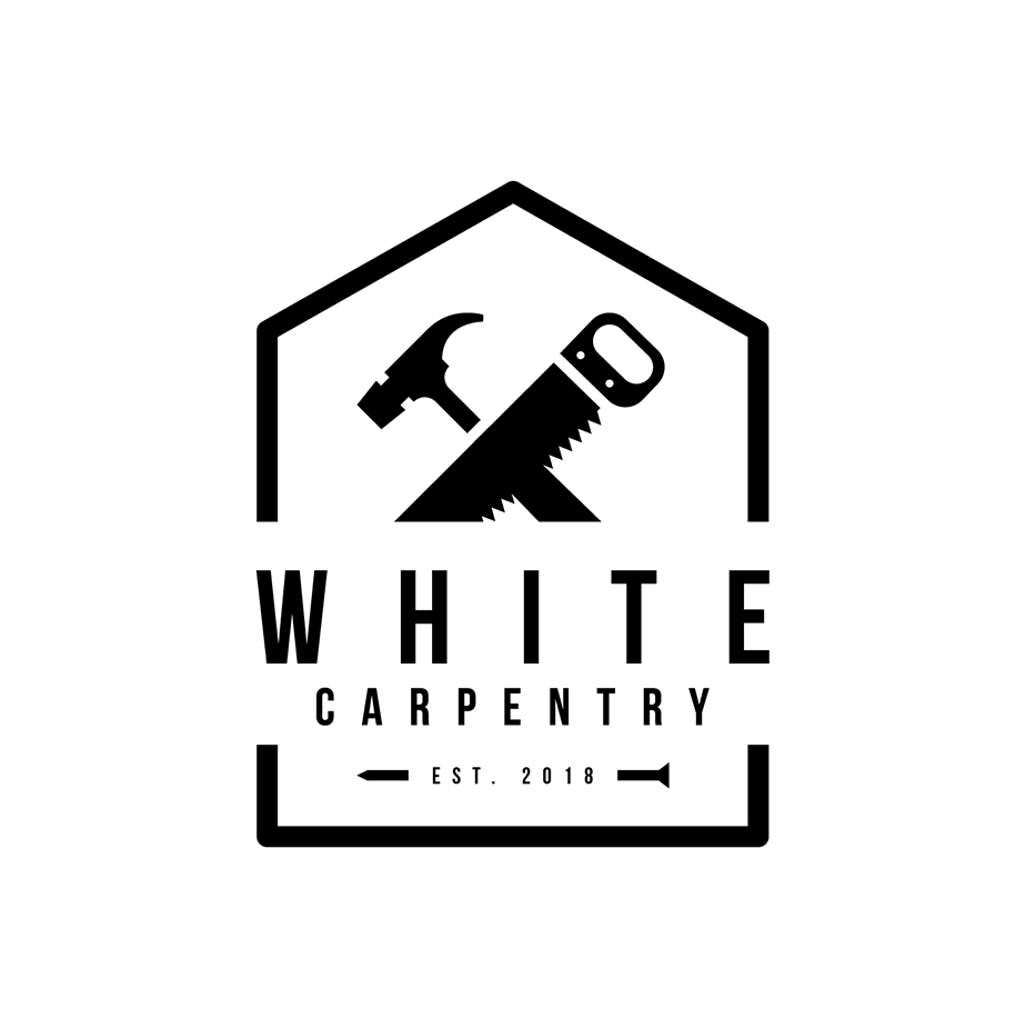 white-carpentry-logo-design